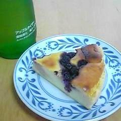 簡単ミキサーでブルーベリーチーズケーキ