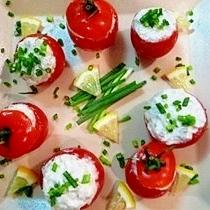 すぐ出来る綺麗な一皿☆トマトの蟹クリームチーズ