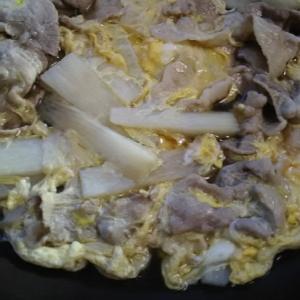 豚肉と長芋の卵とじ(^^)