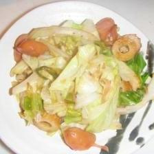 キャベツの紅生姜炒め・お好み焼き風
