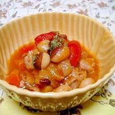パンダ豆と豚ヒレのトマト煮