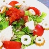 【簡単】チリソースでエスニック風サラダうどん