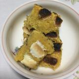 みかんのおからケーキのマシュマロ焼き