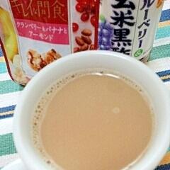 ホッと☆フルーティー黒酢きなこカフェオレ♪