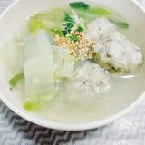 食べごたえバッチリ♪ゴボウ鶏団子スープ!