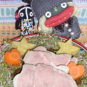 茹で豚の中華風ネギニラソース
