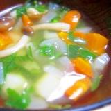 モロヘイヤと玉ねぎのスープ