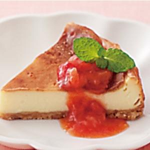 チー酢ケーキ(チーズケーキ)イチゴソース添え