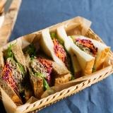 野菜たっぷり♪ビーフサンドイッチ