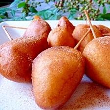 リンゴの薄衣揚げシナモン風味♪