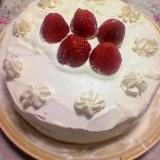 手作りいちごケーキ