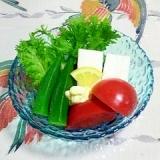 はんぺんとわさび菜のサラダ~(^^)