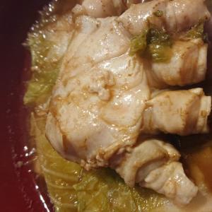 カニと白菜のピリ辛味噌煮