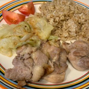 シンプル!鶏肉とキャベツ焼きプレート