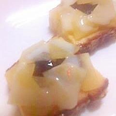 冷凍チーズカステラのりんごをのせてミニケーキ編