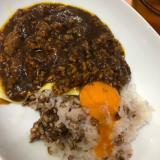 黒豚で麦飯キーマカレー
