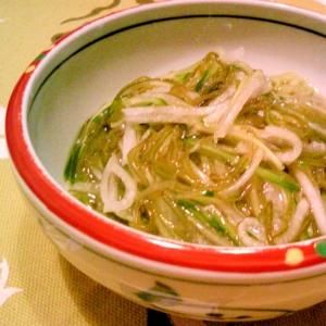 めかぶ・ときゅうり・長芋の梅和え