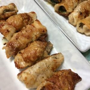 椎茸の肉巻き焼き
