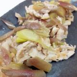 簡単!(^^)豚肉とミョウガのシンプル塩炒め♪