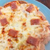 スパムのピザ シーズニングパウダーがけ