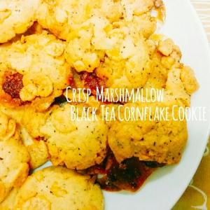 ザクザク♡マシュマロ紅茶コーンフレーククッキー