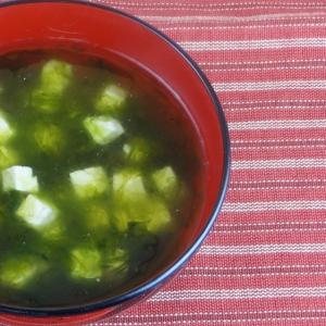 沖縄料理アーサ汁(アオサの汁)