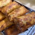 キャベツ♡お弁当に美味しい.ツナポテサラダの春巻き