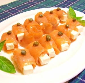クリームチーズのサーモン巻き