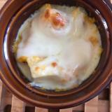 厚揚げとマッシュカボチャの豆乳グラタン