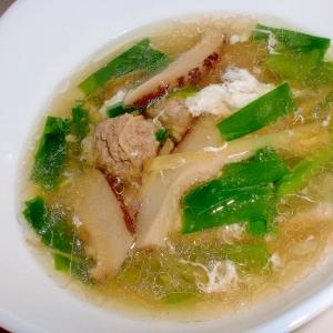 中華風肉団子スープ