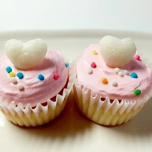かわいい♡ピンクカップケーキ♪