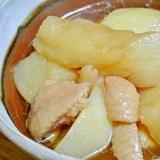 鶏皮と聖護院大根のトロトロ煮