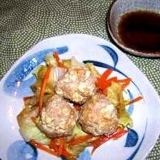 豆腐入り肉団子と野菜のあっさり蒸し
