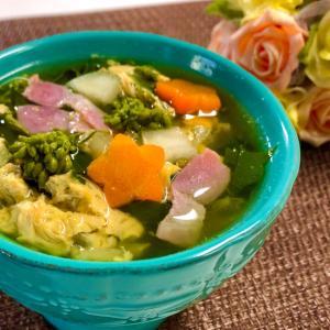 菜の花とベーコンの卵スープ❤️春を食卓に