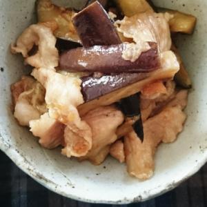 茄子と豚肉の梅肉炒め♪