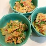 カルシウムたっぷり☆白菜と干しエビの卵とじ