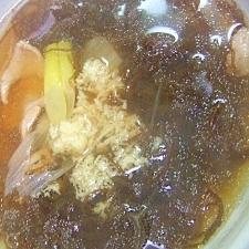 豚肉&もずく*スープ