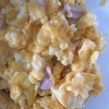 フィッシュソーセージの卵とじ