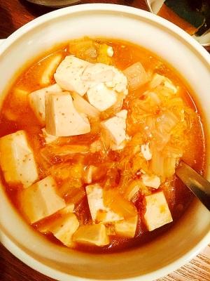 麻婆豆腐の素をアレンジ☆白菜入りの麻婆豆腐