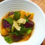 パプリカと茄子、大葉のにんにく醤油マリネ