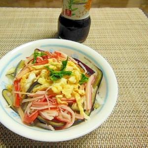 【中華ごま】黒ピーマンとカニカマと薄焼き卵のサラダ