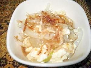 新たまねぎと豆腐の簡単サラダ
