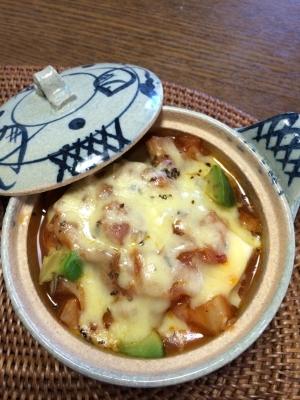 【ヘルシー♪】豆腐とキャベツのトマトグラタン風
