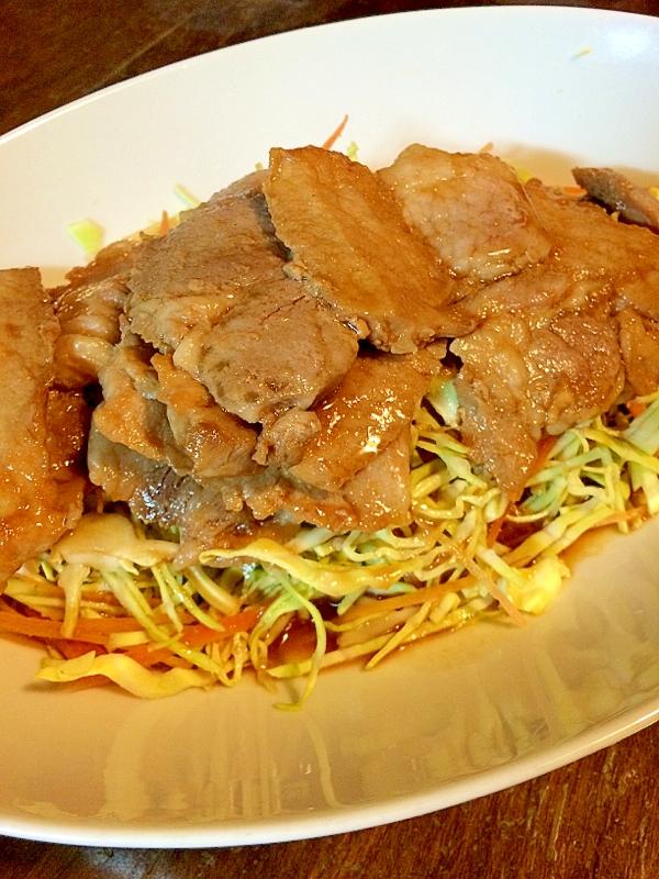 野菜もたっぷり☆豚肉の生姜焼き