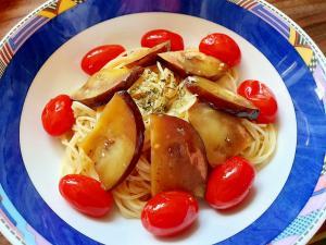 なすとトマトの冷製カペッリーニ(^^♪