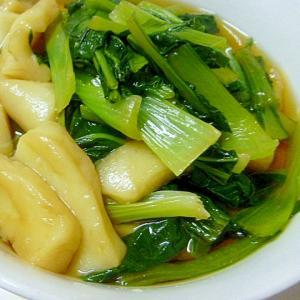小松菜とはんぺんの蒸し煮