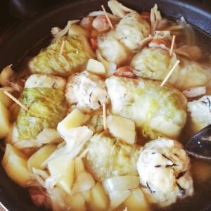 ロールレタスの和風スープ