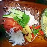 柚子素麺ランチ