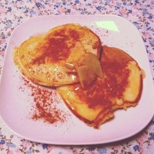 ジンジャー&メープルソースのパンケーキ♡