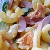 林檎酢で★魚肉ソーセージと卵・胡瓜のマカロニサラダ